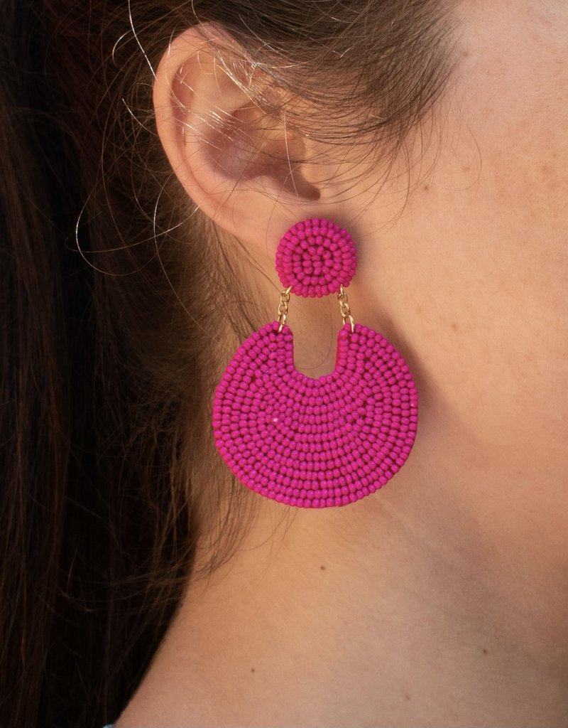 PREPPY GIRL disk beaded earrings