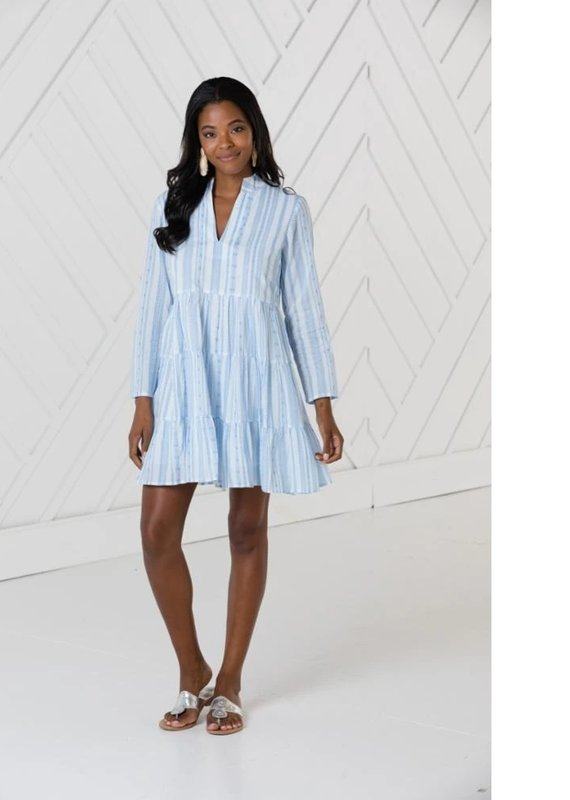 SAIL TO SABLE LONG SLEEVE TUNIC TRAPEZE DRESS