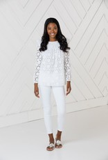 SAIL TO SABLE sp2132 LONG SLEEVE TOP