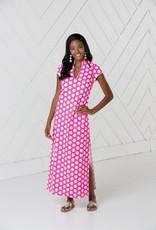 SAIL TO SABLE sp2136 SHORT SLEEVE MAXI DRESS