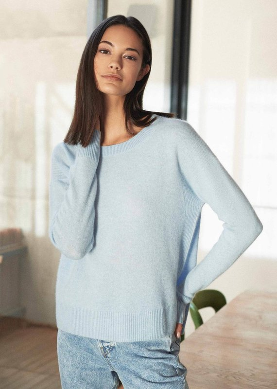 WHITE + WARREN Cashmere easy long sleeve crew