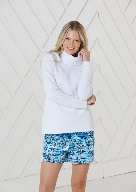 SAIL TO SABLE Cowl Neck Pullover