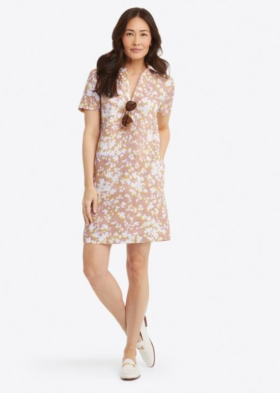 DRAPER JAMES Collared shift shadow floral