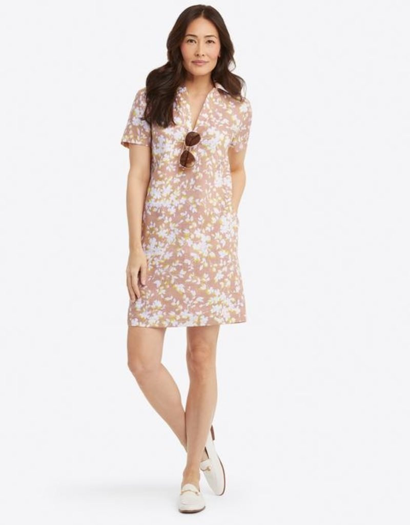 DRAPER JAMES drw0815collared shift shadow floral