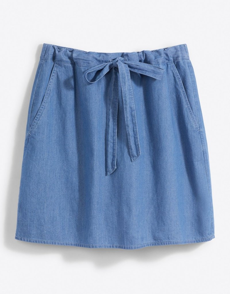 DRAPER JAMES skd0149 chambray tie waist skirt