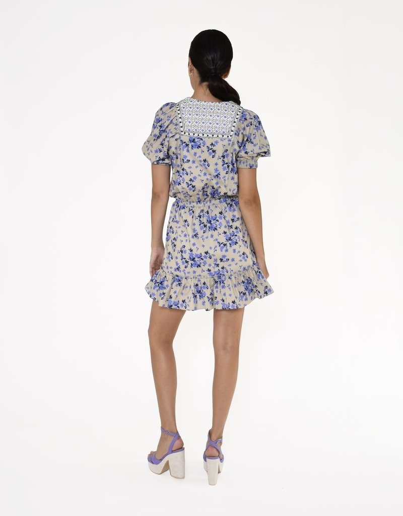 Nicole miller Country floral embroidered mini dress