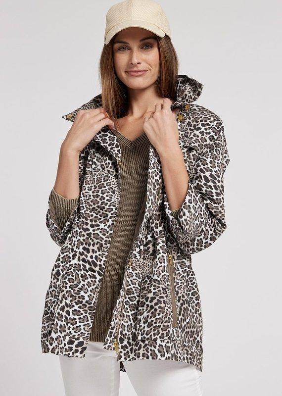 TYLER BOE Leopard newport rain slicker