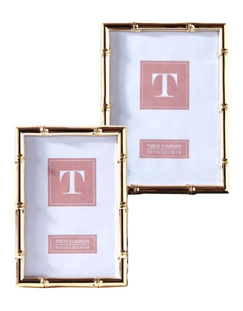 TWO'S COMPANY 51446s rose gold frame 4 x 6