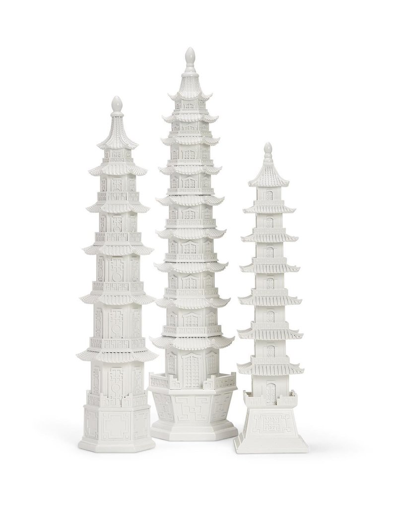 TWO'S COMPANY 53017l white pagoda large