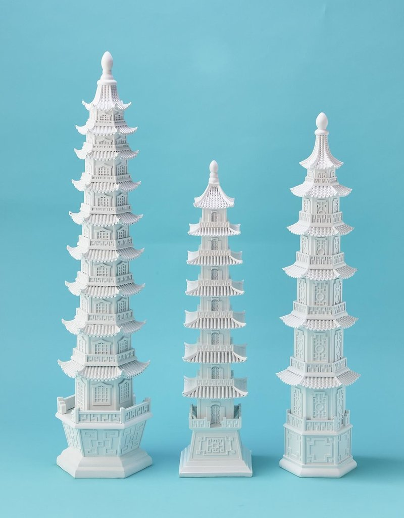 TWO'S COMPANY 53017 white pagoda set