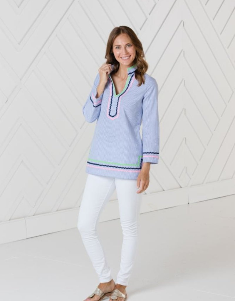 SAIL TO SABLE sp2159  long sleeve tunic top