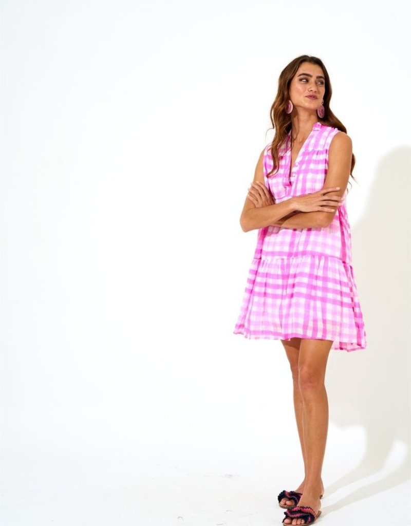 OLIPHANT 1118x button neck dress