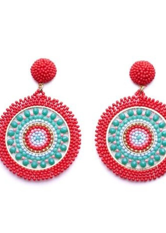 OLIPHANT positano earring coral/green