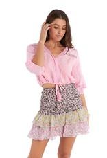 allison NY sa21004c3 floral smocked mini skirt