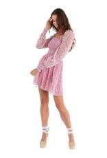 allison NY sa21018c Smocked floral mini dress