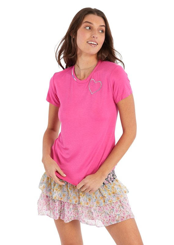 allison NY Heart embroidered tee