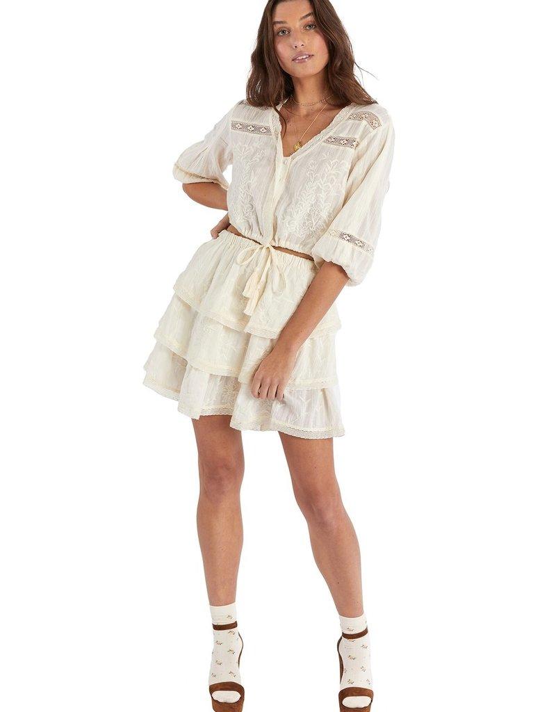 allison NY sa21501ka embroidered tiered skirt