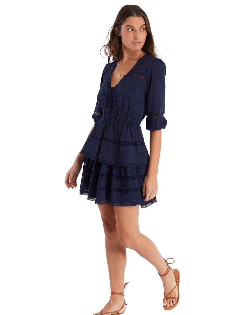 allison NY SA21502KB Embro Tiered Dress