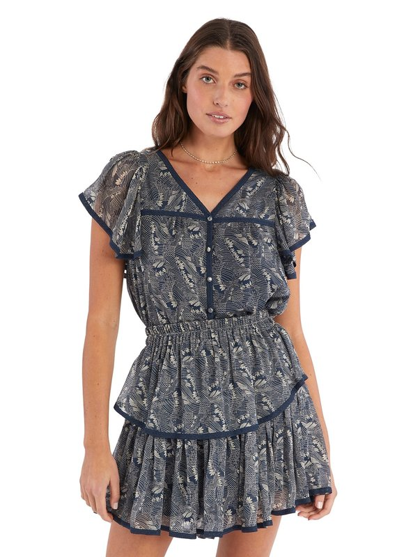 allison NY Tiered mini skirt