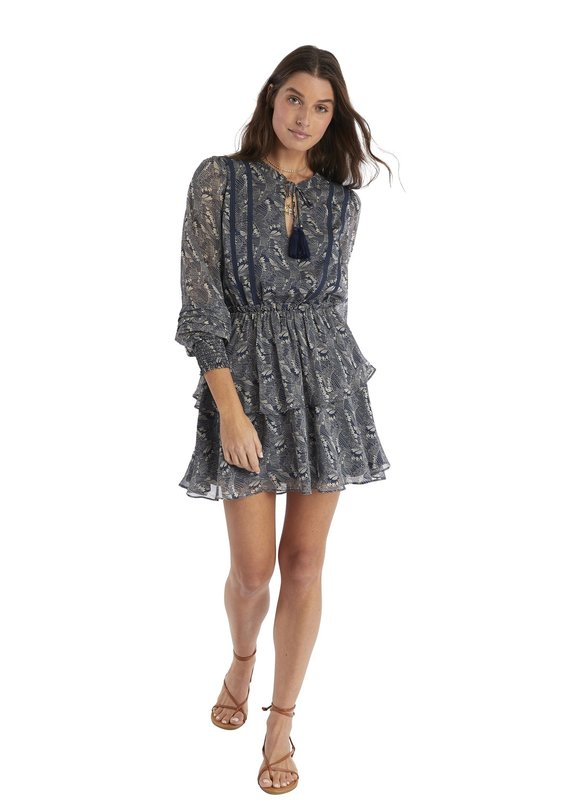 allison NY Tiered long sleeve dress