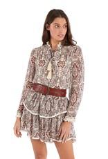allison NY SA21006JC Paisley print tiered mini skirt