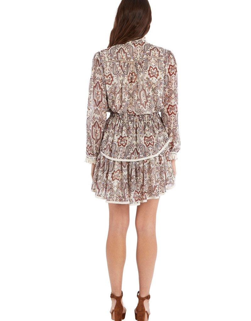 allison NY SA21007J paisley print blouse