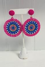 OLIPHANT positano earring pink/navy