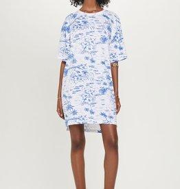 goldie lewinter Oversize palm jersey dress