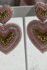 PREPPY GIRL pink double hearts