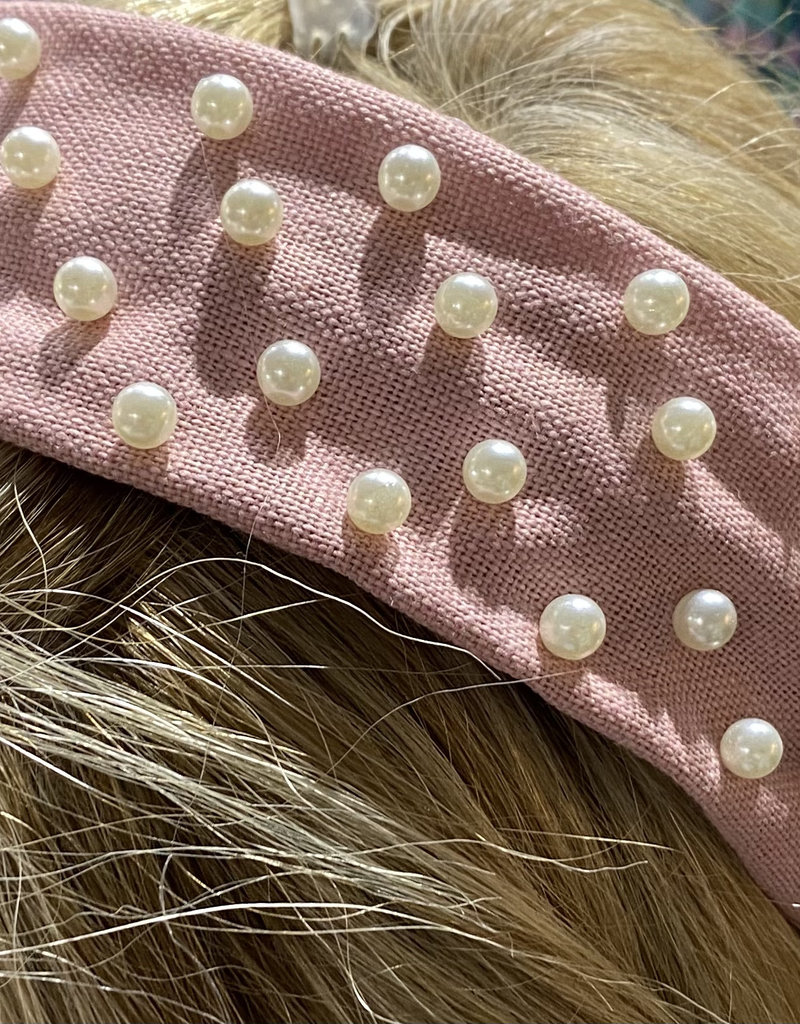 PREPPY GIRL headband pink pearl