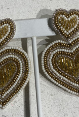 PREPPY GIRL gold double hearts