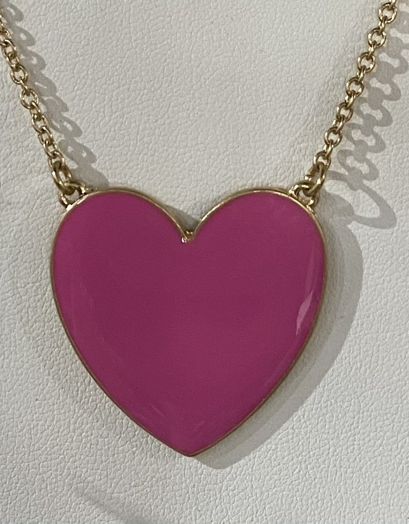 PREPPY GIRL Heart Necklace pink