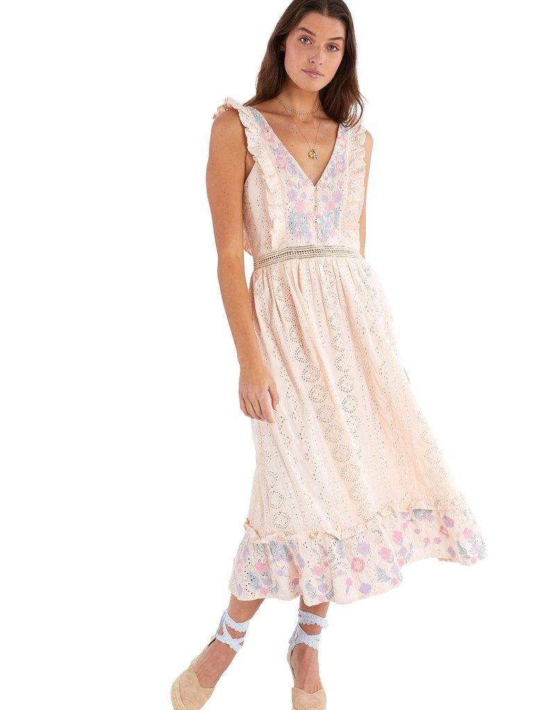 allison NY sa21504kb embroidered eyelet maxi dress