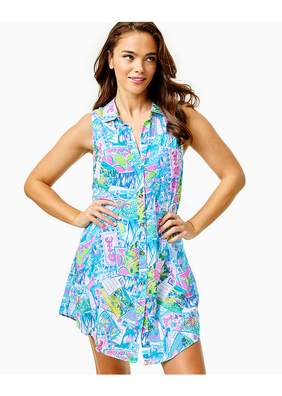 LILLY PULITZER SLEEVELESS NATALIE COVERUP