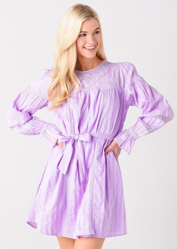 allison NY Lace insert dress