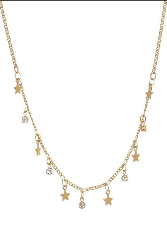 CB Designs semi star and crystal necklace