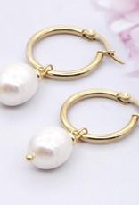CB Designs freshwater pearl hoops