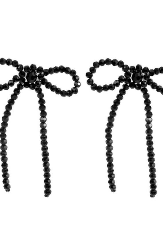 CB Designs bow crystal earrings