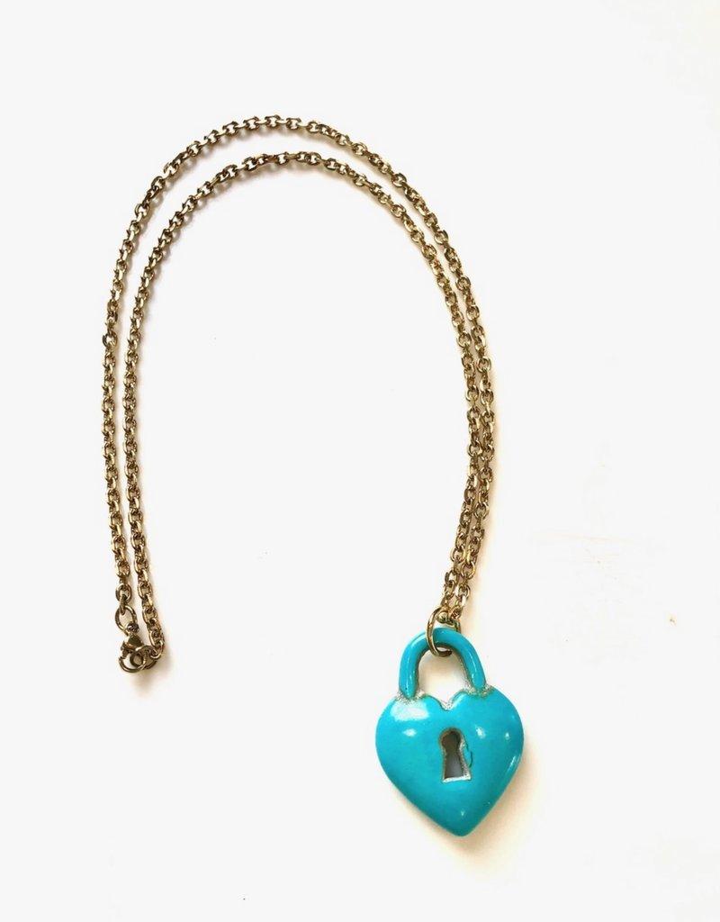 CB Designs turq locket necklace