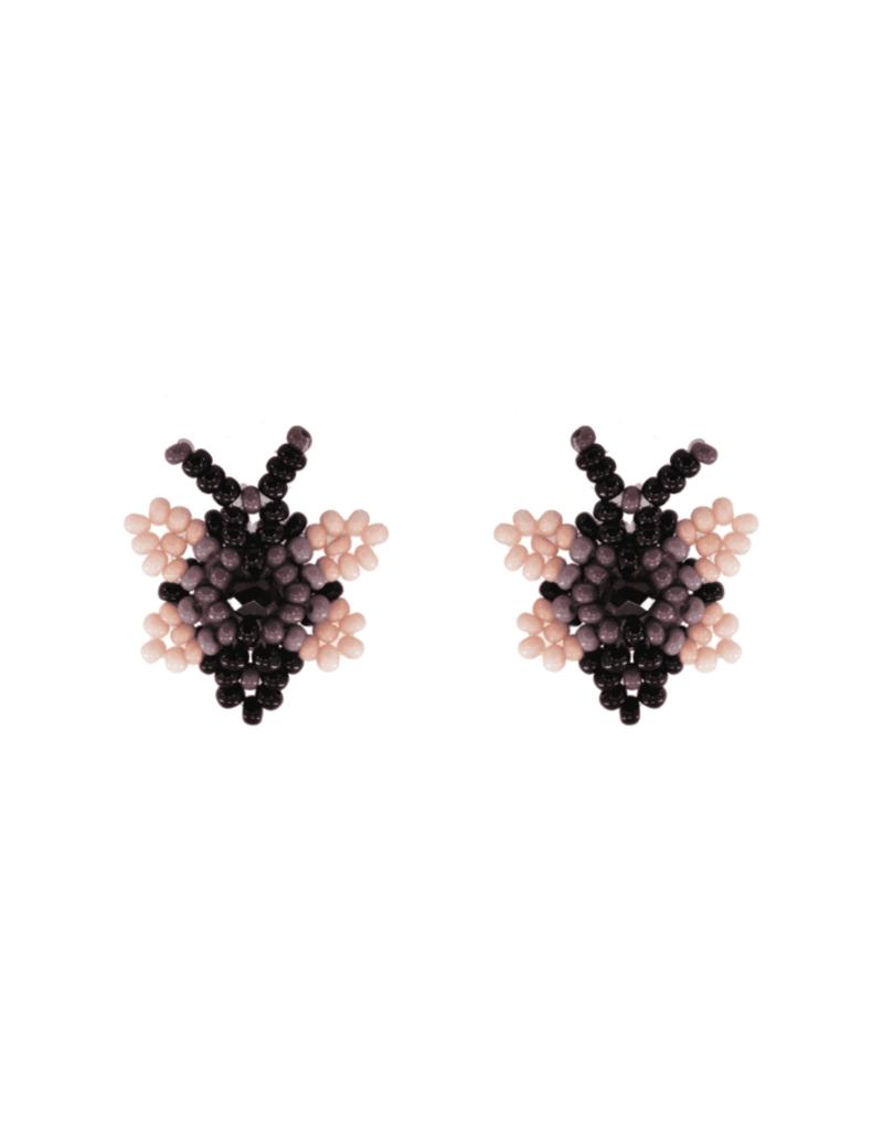 JOSEPHINE ALEXANDER Butterfly beaded earring in lilac