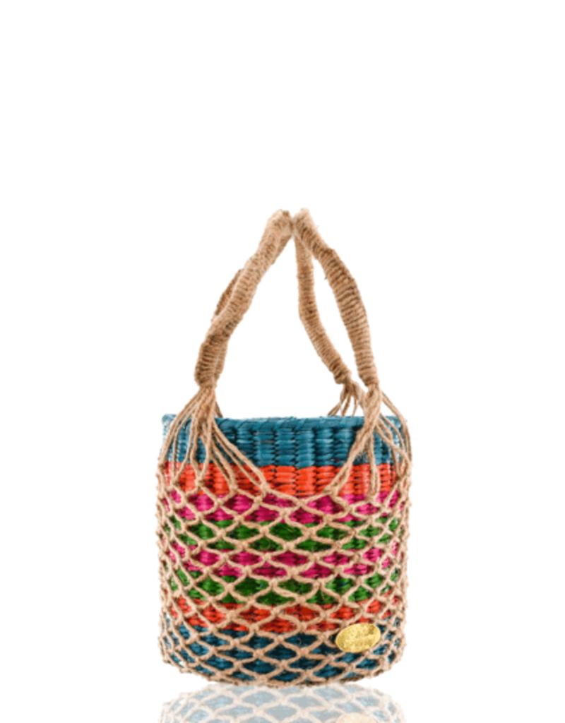 JOSEPHINE ALEXANDER Macrame straw bucket
