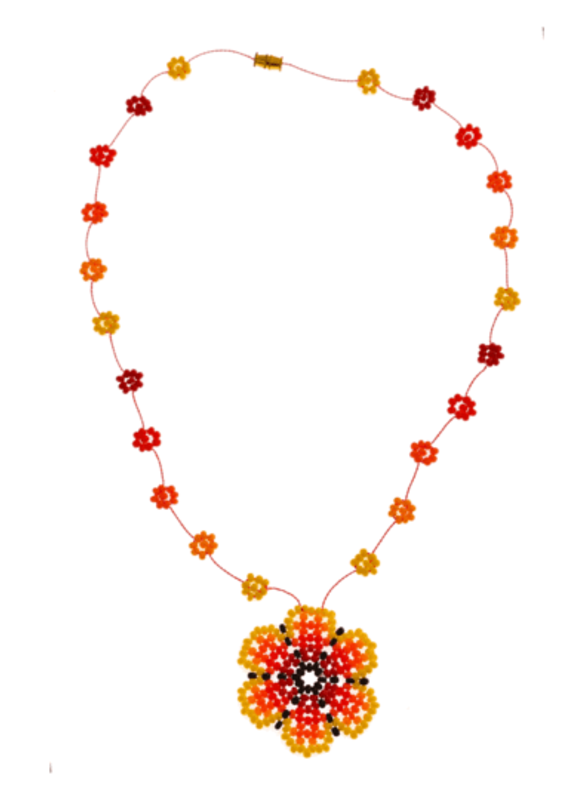 JOSEPHINE ALEXANDER The wild Daisy chain necklace in yellow