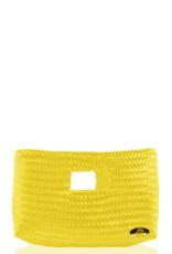 JOSEPHINE ALEXANDER alison woven clutch in yellow