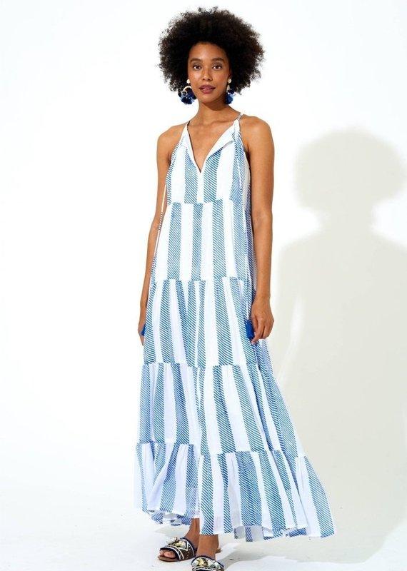 OLIPHANT Long Tiered Tassel Dress