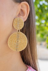 PREPPY GIRL double disc earring gold