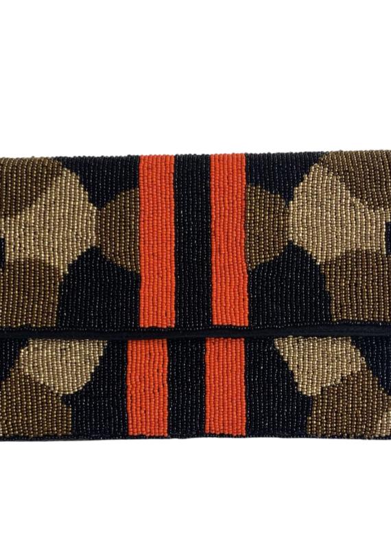 PREPPY GIRL camo bag orange stripe