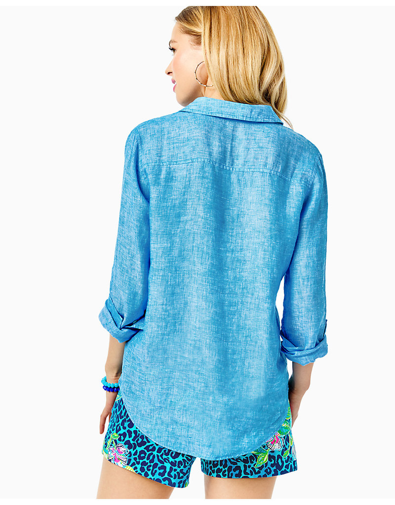LILLY PULITZER F21 004723 SEA VIEW BUTTON DOWN
