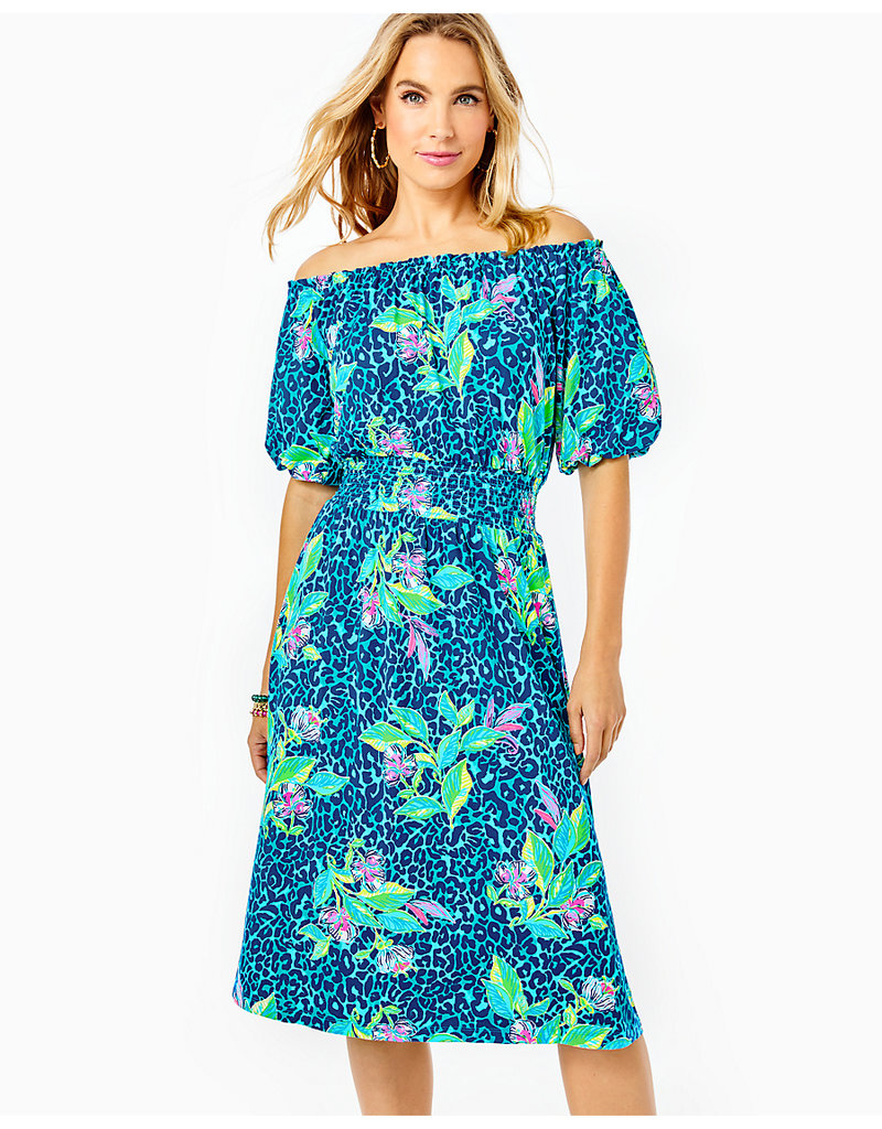 LILLY PULITZER F21 008395 CAMILLE KNEE LENGTH DRESS