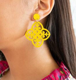 PREPPY GIRL wooden filagree earring