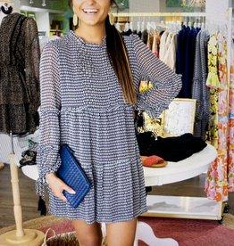 allison NY Tiered panel dress